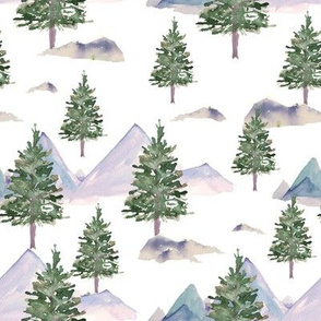 "8"" Winter Tree Scene White"
