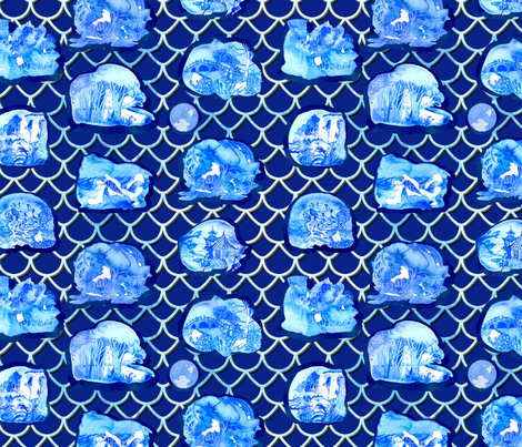 18.10.29 chinoiserie eternal knot fabric by numinart on Spoonflower - custom fabric