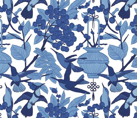 Chinoiserie by Cha Pornea fabric by chapornea on Spoonflower - custom fabric