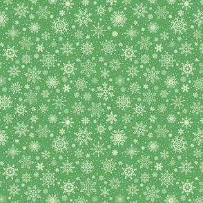 snowflakes - dark green