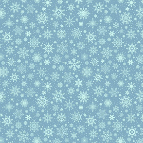 snowflakes - dark blue