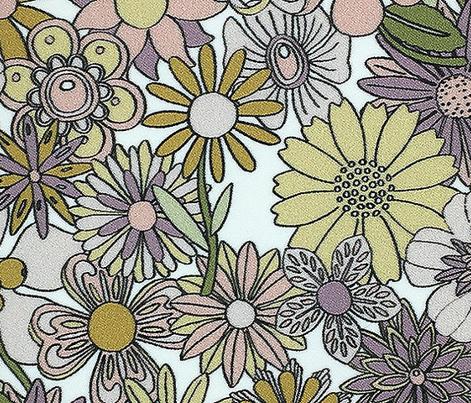 Chelsea (Mustard & Pink) || vintage 60s 70s enamel pin brooch flower floral garden pastel sheet illustration spring summer bouquet