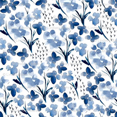 Watercolor Blues { Mid Size }