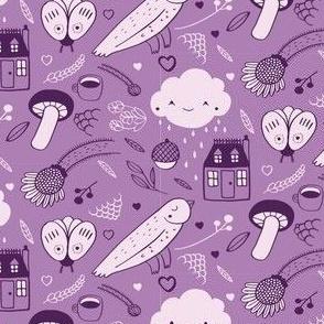 House Rain Purples