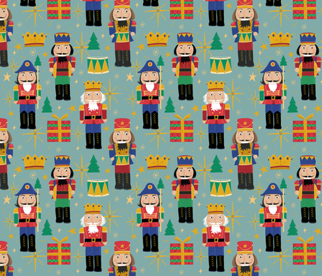 Christmas Nutcrackers fabric by dalesimpsondesign on Spoonflower - custom fabric
