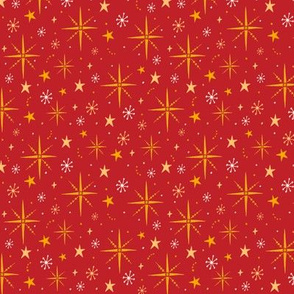 Christmas Red Star pattern
