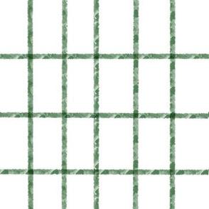Green Watercolor Holiday Plaid