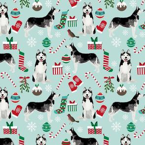 LARGE - husky christmas fabric cute husky design best husky fabrics siberian huskies cute dogs