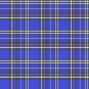 Faded blue tartan plaid 6x6