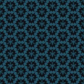 geometric tulip motif