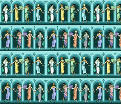 Evening pastels 8x9 aqua fabric by leroyj on Spoonflower - custom fabric