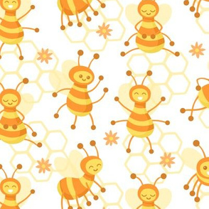 Busy Bees White