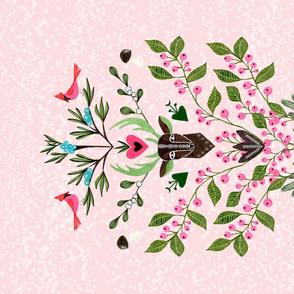 Tea Towel/Holiday/Christmas/Cut and Sew Winterberries