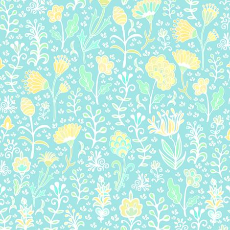 Gentle flowers fabric by dariara on Spoonflower - custom fabric