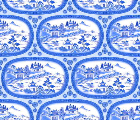 Fishing in the China Sea fabric by enid_a on Spoonflower - custom fabric
