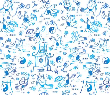 Tai Chi Workout fabric by pikku_susi on Spoonflower - custom fabric