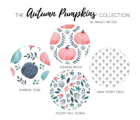 Fall Floral - Autumn Pumpkin Collection