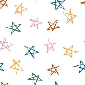 ditsy scribble stars