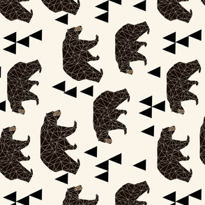 XLARGE - geometric bear // x-large print large print triangle bear in cream