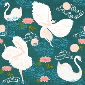 Swan lake - chinoiserie style