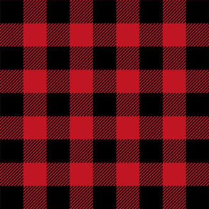 "2"" buffalo check fabric - red and black holiday xmas christmas cabin buffalo plaid"