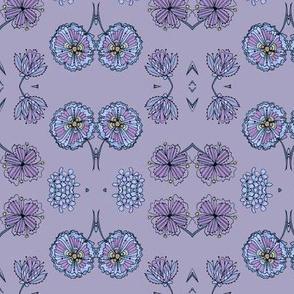 Blue duets-lavender