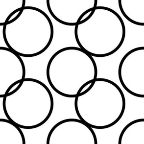 Large Scale Black and White Circles