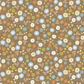 Ditsy Floral - Brown