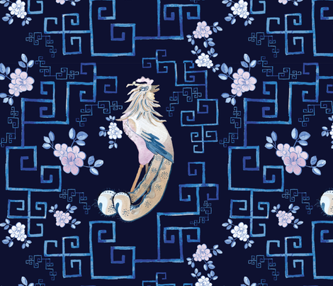 peacock fabric by caramiya on Spoonflower - custom fabric