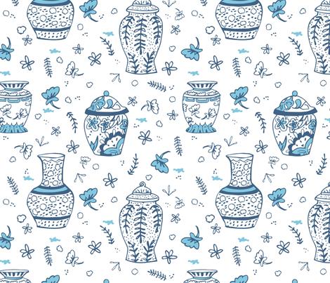 Ming Vases fabric by lisa_travis on Spoonflower - custom fabric