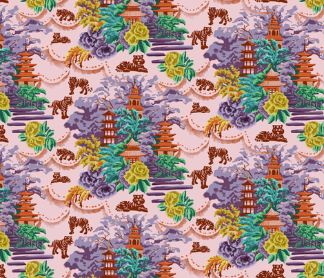 City of Tigers fabric by rose_and_stone on Spoonflower - custom fabric
