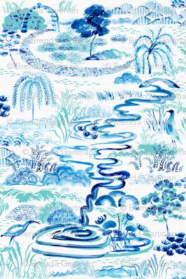 Modern Chinoiserie Landscape