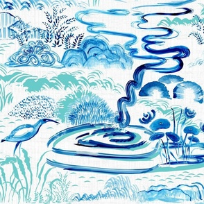 Modern Chinoiserie Landscape