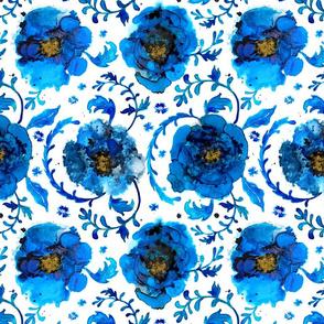 Chinoiserie- Oriental Indigo Floral