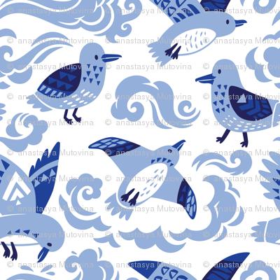 chinoiserie seagulls