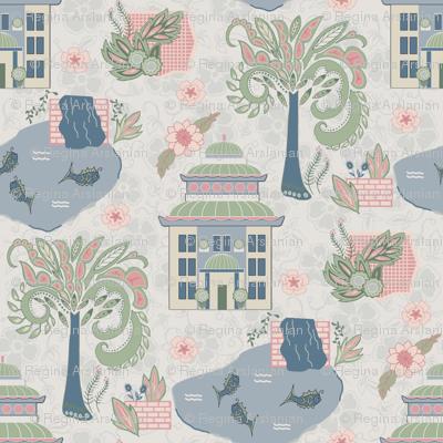 Chinese house garden