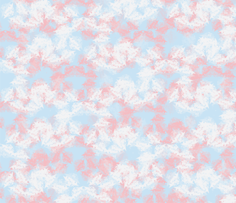 Abstract Almond Blossoms fabric by sarahbrubeck on Spoonflower - custom fabric