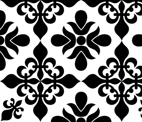 French Black & White - XLG fabric by sssowers on Spoonflower - custom fabric