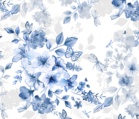 Italian Summer Chinoiserie fabric by gingerlique on Spoonflower - custom fabric