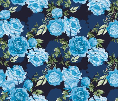Peonies bloom_Chinoiserie fabric by ringele on Spoonflower - custom fabric