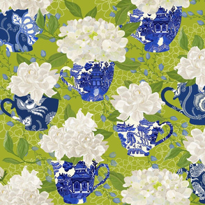 BLUE WILLOW CHINOISERIE GREEN