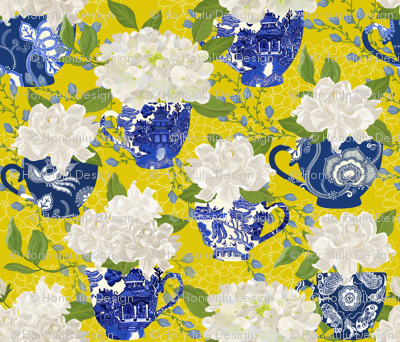 BLUE WILLOW CHINOISERIE YELLOW
