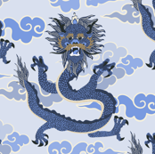 Dragon - blue