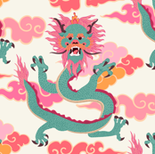 Dragon - colourful