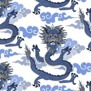 Dragon - blue and white