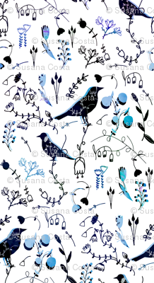 Chinoiserie White Blue Paint