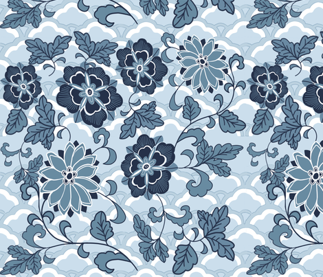 Cool, calm and collected. fabric by robynhammonddesign on Spoonflower - custom fabric