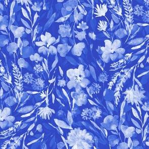 upside floral cobalt
