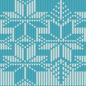 Fair isle knit - teal
