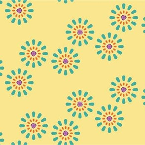 Design for baby blanket turqoise violet fireworks